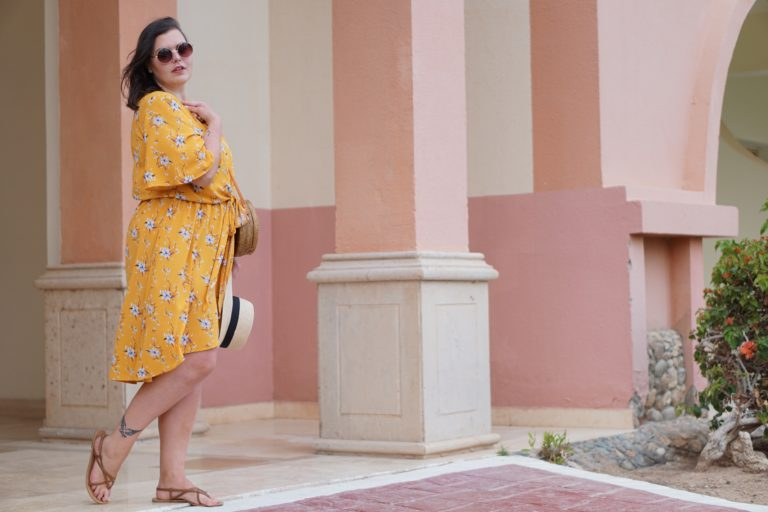 Anna Curve yellow wrap dress straw hat 038 round sunglasses file name