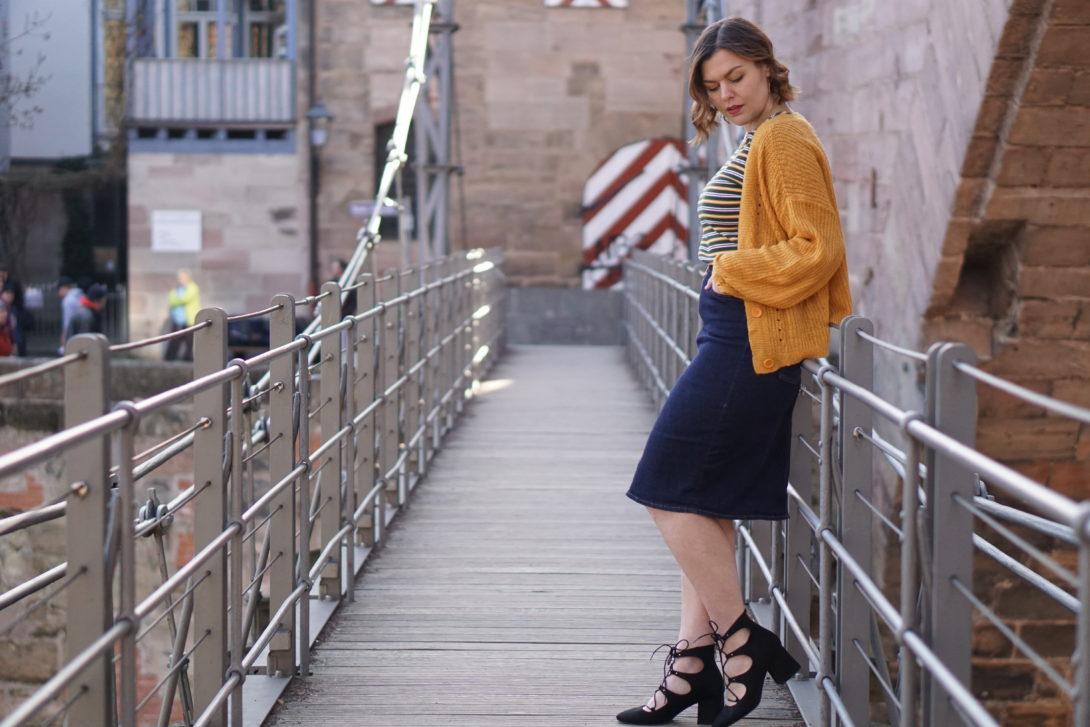 Denim Skirt & Bright Colours